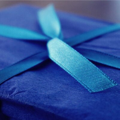 Photo of a bow on top of a present