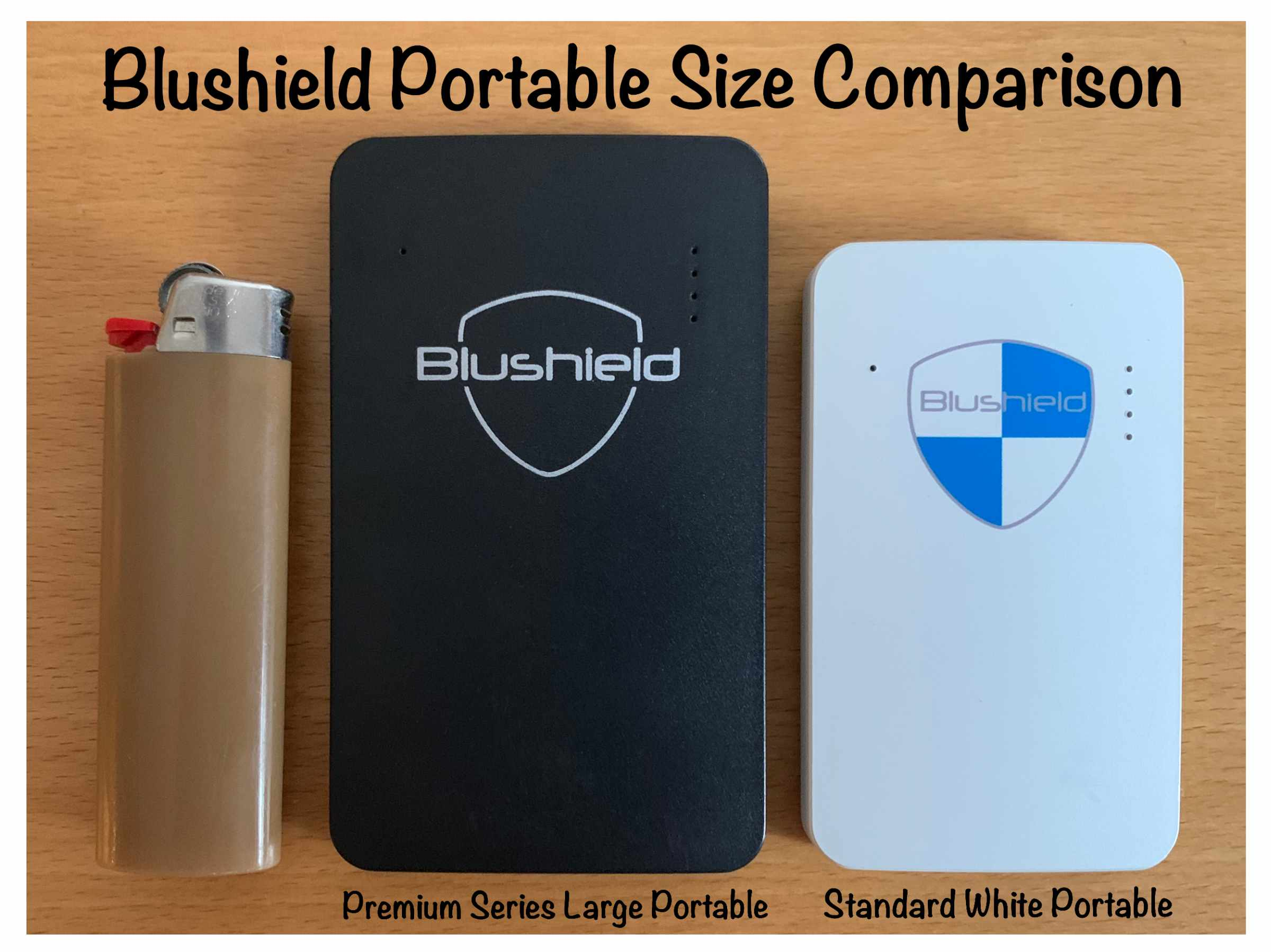 Blushield Portable Size Comparison Photo